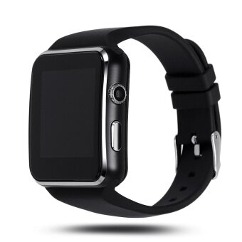Bluetooth Smart Watch X6 Smartwatch for Apple iPhone Android PhoneWith Camera FM Support SIM Card (Black) - intl