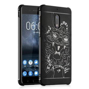 BYT Dragon Debossed Silicon Screen Protective Cover Case for Nokia6 - intl