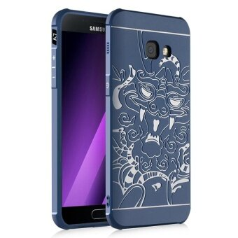 Dragon Debossed Silicon Screen Protective Cover Case for SamsungGalaxy A7 A720 (2017) - intl