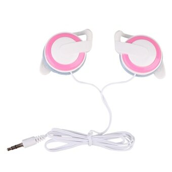 Ear-hook Headphone 3 Colors Earphone Headset for CellphoneMP3/MP4/PC Computers (White/Pink) - intl