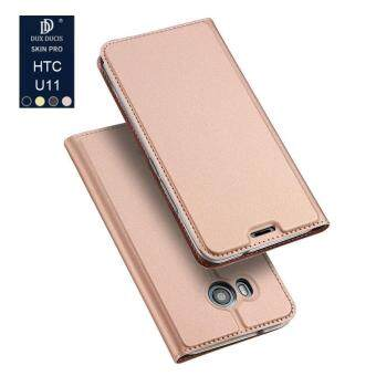 For HTC U11 New Crashproof Flip Cover Leather Magnet AdsorptionBuilt-in Stand Phone Case for HTC U11