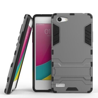 [Heavy Duty] [Shock-Absorption] [Kickstand Feature] Hybrid DualLayer Armor Defender Full Body Protective Case Cover for OPPO A33Mirror 5 Lite A33m / A33w / A33c / A33t 5.0 Inch - intl