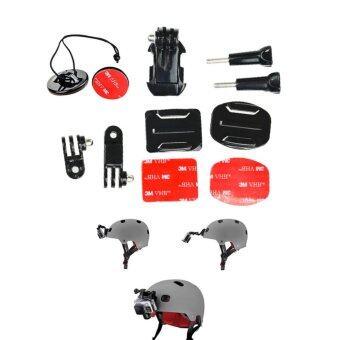 Helmet Front Mount Kit 3 way Pivot Arm Curved & Flat Base J-hook Mount
