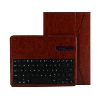 "Harga For Samsung Galaxy Pro 10.1"" T520 T525 P600 P601 P605 Tablet Wireless Bluetooth Keyboard case, Brown - intl"