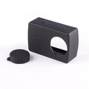 Harga Silicone Protective Cover Protector Case Shell Skin Lens Cap Accessory for Xiaomi Yi XiaoYi 2 Ⅱ 4K Camera Black