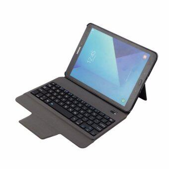 Harga Newest Ultra Slim Bluetooth Keyboard with Leather Case Cover For Samsung Galaxy Tab S3 9.7 T820/T825, Gold - intl