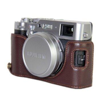 Harga Camera Bag Bottom Case For Fujifilm X100F PU Leather Half Body Set Cover With bottom Opening - intl