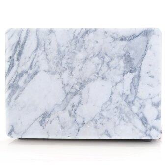 "Harga HRH Blue Gray White Marble Texture Laptop Body Shell Protective Hard Case For Apple MacBook Air 13.3"" (A1466 / A1369) - Intl"