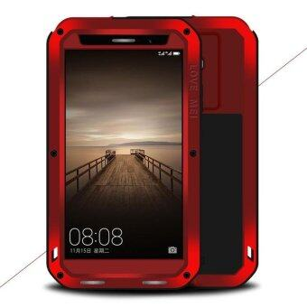 Harga LOVE MEI for Huawei Mate 9 Powerful Shockproof Drop-proof Dust-proof Case (Metal + Silicone + Tempered Glass) - Red - intl