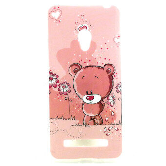 Harga Lovely Bear Soft TPU Siliconr Gel Back Rear Case Cover for Asus Zenfone 5(Multicolor)