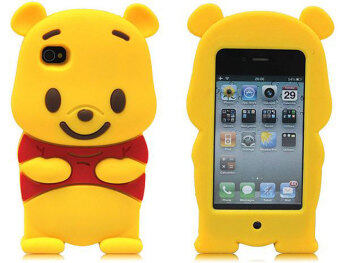 Harga Leegoal Yellow Winnie The Pooh Bear Soft Silicone Case Cover Fit for the IPhone 4 4S - intl