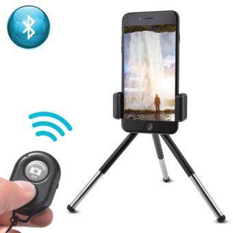 Harga Wireless Bluetoothe Remote Shutter + Tripod Stand Holder for Smart Phone