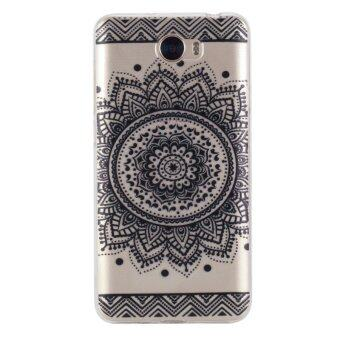 Harga Black Lace flowers TPU Soft Gasbag Back Case Cover For Huawei Y5 II/Huawei Y6 II Compact Case - intl