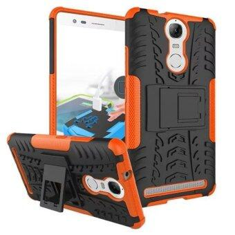 Harga Fashion Shockproof Cell Phone Case Cover With Stand Holder for Lenovo K5 Note Orange - intl