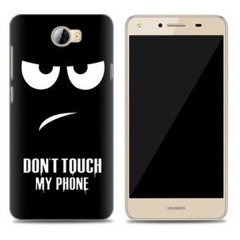Harga Cases for Huawei Y5 II (5 inch) Smartphone - Don't Touch My Phone Printing Pattern Transparent TPU Soft Cover Case - intl
