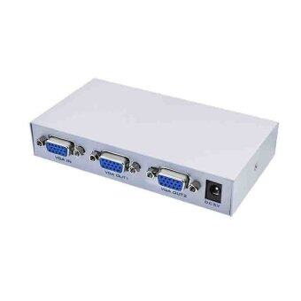Harga 2 Port VGA Video Splitter - 1 in to 2 Out - 1 PC to 2 Monitors (สีเทา)