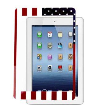 Harga Supercart US Flag Front+ Back Skin Sticker Screen Protective Film Cover for Apple Mini iPad - Intl