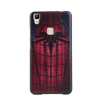 Harga For Vivo V3 Max TPU 3D Painting Cover Case(Spider-Man) - intl