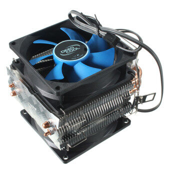Harga Dual Fan CPU MIni Cooler Heatsink for Intel LGA775/1156/1155 AMD AM2/AM2ﰃ� (Blue/Black)