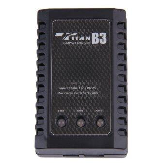 Harga Allwin AC 100-240V 2S-3S Li-po Balance Charger For 7.4-11.1V RC Battery US Plug Black