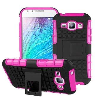 Harga Hybrid Case Stand Shockproof Cover For Samsung Galaxy J1 Hot Pink - intl