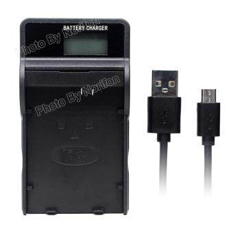 Harga LP-E5 LCD Ultra Slim USB Charger for Canon EOS 1000D, EOS 450D, EOS 500D, EOS Kiss F, EOS Kiss X2, EOS Kiss X3, EOS Rebel T1i, EOS Rebel XS, EOS Rebel Xsi Camera - intl