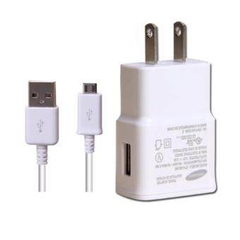 Harga Samsung หัวชาร์จสำหรับSamsung Galaxy noet 3/S4/S5/S6 Home Wall Charger(White) สาย+หัวชาร์ทซัมซุง-44