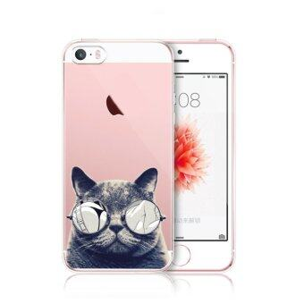 Harga AFTERSHOCK TPU Case iPhone5 / 5S / SE (เคสใสพิมพ์ลาย Black Cat) / Thin 0.33 mm