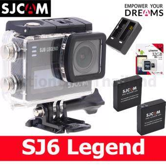 Harga SJCAM SJ6 LEGEND 4K,16Mp เมนูไทย(BLACK)+Kingston32GB x2 Battery+DualCharger