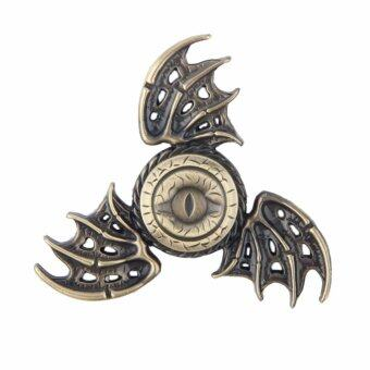 Harga 2017 New Fidget Toy Game of Thrones Hand Spinner Metal Finger Stress Tri Spinner(Brown) - intl