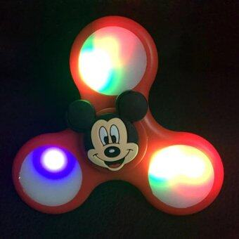 Harga Cartoon LED Flash of light hand spinner Tri-Spinner Anti Stress Sensory Fidget Spinner Ball - intl
