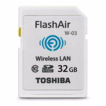 Harga Toshiba เมมโมรี่การ์ด Toshiba FlashAir SD Card 32 GB Class10 w-03 (Wifi SD Card)