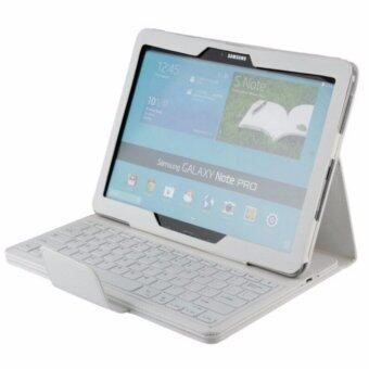 Harga For Samsung Galaxy Note Pro & Tab Pro 12.2 SM-P900 P900 P905 Bluetooth Keyboard Cover Case, White - intl