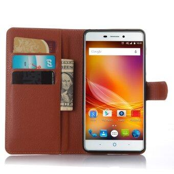 Harga Wallet Flip Leather Case Cover For ZTE Blade A711/ZTE Blade X9 (Brown) - intl