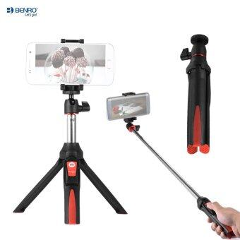 Harga Benro MK10 Handheld Extendable Mini Tripod Selfie Stick with Bluetooth Remote Control Shutter for IOS iPhone 5s/6s/6s Plus & Android Smartphone Cellphone for Gopro Outdoorfree - intl