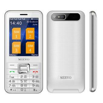 Harga SERVO Quad Sim Cell phone Quad Band 2.8 inch 4 SIM cards 4 standby Phone Bluetooth Flashlight MP3 MP4 GPRS โทรศัพท์ 4 ซิม 4 Sim Mobile