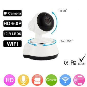 Harga JD SHOP P2P V380 HD 960P Mini IP Camera Wifi Camera Wireless Security ( white/black)