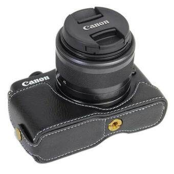 Harga PU Camera Half Body Bottom Case Cover for Canon EOS M10(Black) - intl
