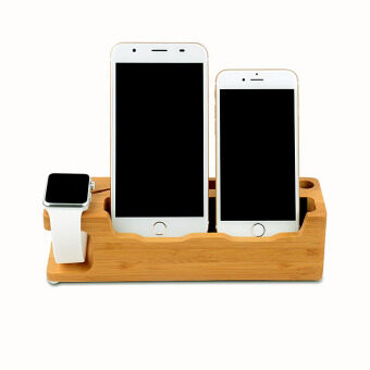 Harga moob 3 in 1 Charging Station Dock for IWatch IPhone 6S 6 6S Plus 6 Plus 5S 5 SE 4S with Card and Pen Slot - Intl