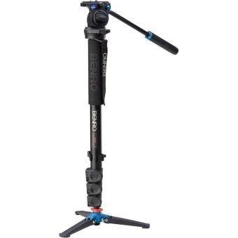 Harga Benro โมโน A48FDS4 Aluminum Monopod with 3-Leg Locking Base and S4 Video Head (Black)