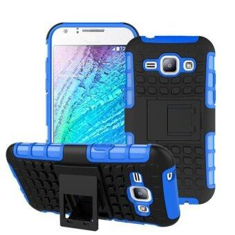Harga Hybrid Case Stand Shockproof Cover For Samsung Galaxy J1 Blue - intl