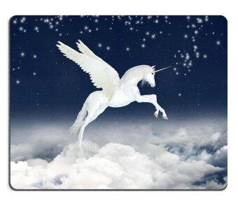 Harga ELong station sold Mouse Pad Gaming Mouse pad Natural Rubber mouse mat White unicorn flying in the sky M0A02158 - intl