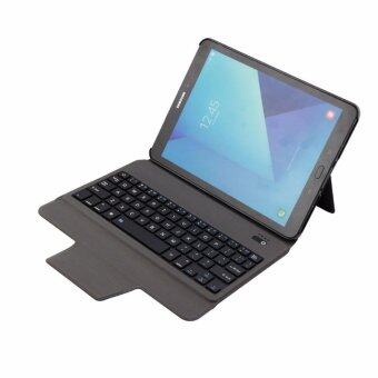 Harga Newest Ultra Slim Bluetooth Keyboard with Leather Case Cover For Samsung Galaxy Tab S3 9.7 T820/T825, Blue - intl