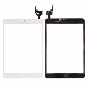 Harga For iPad Mini3 mini 3 A1599 A1600 A1601 Touch Screen Digitizer Glass With homebutton flex cable + camera holder completed, White - intl