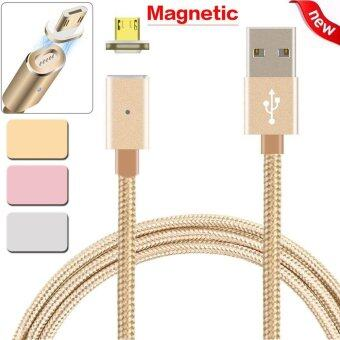 Harga 2.4 A Micro USB Charging Cable Magnetic Adapter for Samsung For Android Rose Gold - intl