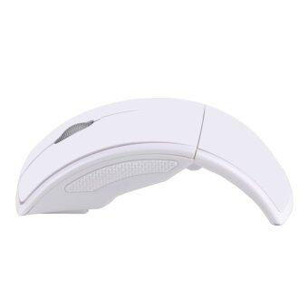 Harga Best 2.4Ghz Foldable Folding Wireless Mouse Mice Snap-in Transceiver For Computer Laptop Tablet - White