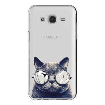 Harga AFTERSHOCK TPU Case Samsung Galaxy Grand 2 (เคสใสพิมพ์ลายBlack Cat) / Thin 0.33 mm