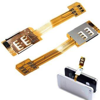 Harga Bluesky Smartphone SIM Card Adapter For iPhone 5 5S 5C 6 Portable Dual SIM Card Adapter Converer Single Standby Flex Cable Ribbon - Intl