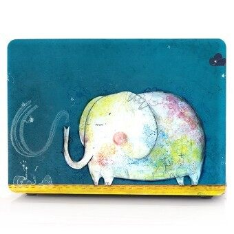 "Harga HRH Cute Cartoon Elephants Laptop Body Shell Protective Hard Case For Apple MacBook Air 13.3"" (A1466 / A1369) - Intl"