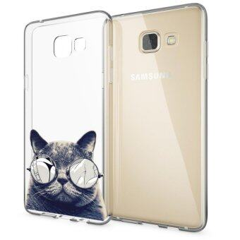 Harga AFTERSHOCK TPU Case Samsung Galaxy A5 2016 (เคสใสพิมพ์ลายBlack Cat) / Thin 0.33 mm